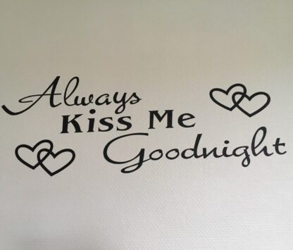 Always kiss me wallstickers