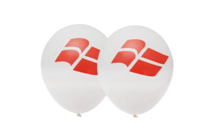 Balloner med Dannebrogsflag