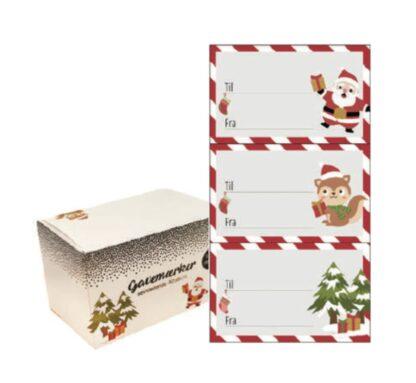 Gavemærker med julemotiver