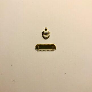 Sæt i 2 dele m/dørhammer & brevsprække