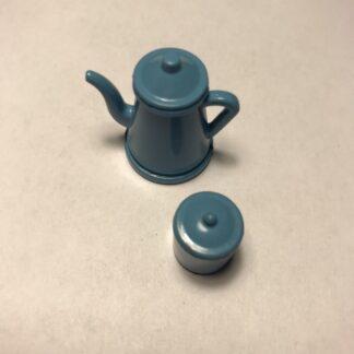 Blå kaffekande og kaffedåse