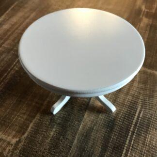 Hvid rund bord