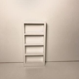 Lille hvid reol med 4 hylder
