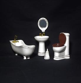 porcelæns badeværelsesmøbler i 5 dele