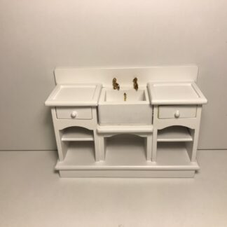 Hvid bord med vask