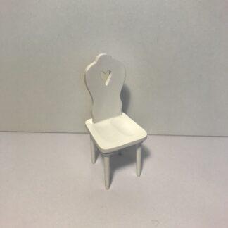 Hvid hjerte stol