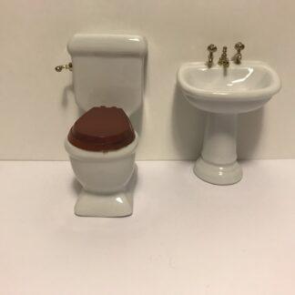 Porcelæns badeværelsesmøbler i 2 dele