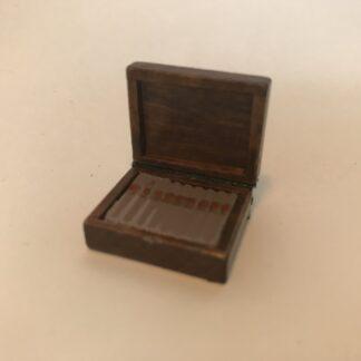 Cigarer i mahogni æske