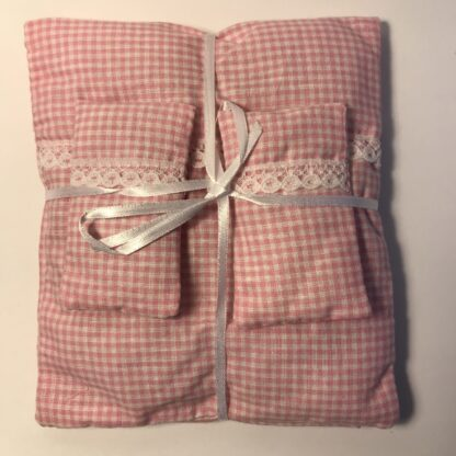 Rosaternet sengetøj i 4 dele