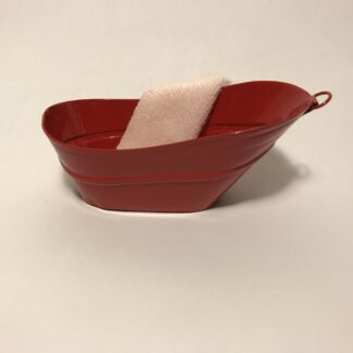 Rød metal badekar