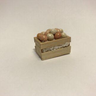 Æg i trækasse