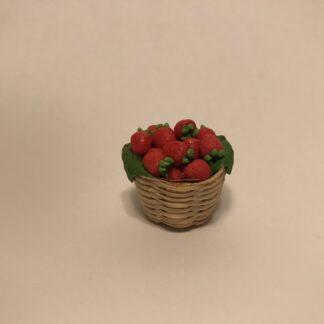 Jordbær i fletkurv