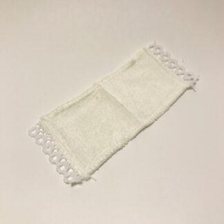 Hvid frotte håndklæde